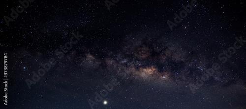 Panorama blue night sky milky way and star on dark background Fotobehang