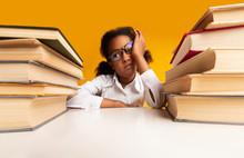 Overworked African Schoolgirl ...