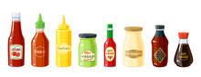 Set Of Sauce Bottles: Mustard,...