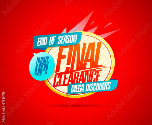 Tablou Canvas Final clearance, hurry up, end of season mega discounts banner