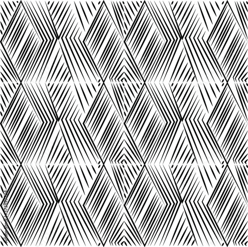 Stampa su Tela black and white seamless pattern
