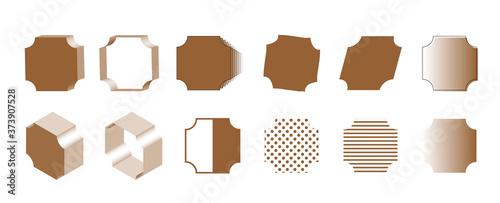 Obraz na plátně 茶色の角くぼみ正方形