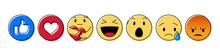 Set Of Yellow Emoticon And Emoji Smiles, Hand Drawn Art Design