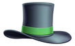 A black cylinder top hat illustration icon