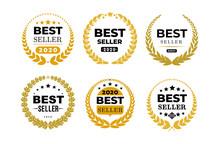 Set Of Awords Best Seller Badg...