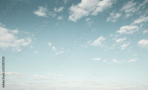 Beautiful blue sky with white clouds Wallpaper Mural