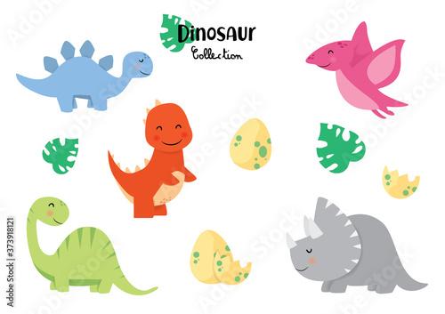raccolta di dinosauri Canvas Print