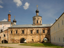 Church Of Presentation Of Most Holy Theotokos   And Church Of Entry Of Lord Into Jerusalem At Monastery Of Sts. Boris And Gleb (Novotorzhsky) Monastery) In Torzhok. Tver Region. Russia