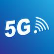 5G Plus 3D concept vector design on Blue background