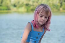 Cute Child Girl Portrait . Out...