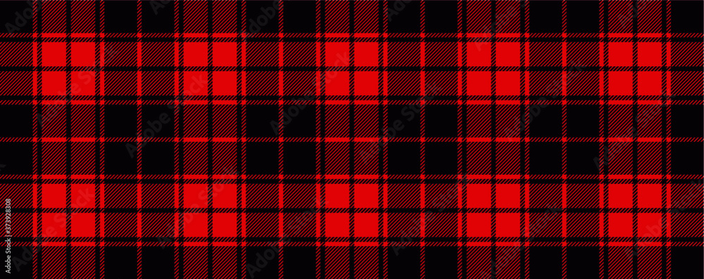 Fototapeta Red lumberjack style. Vector gingham and bluffalo check line pattern. Checkered picnic cooking table cloth. Texture from rhombus, squares for plaid, tablecloths. Flat tartan checker print