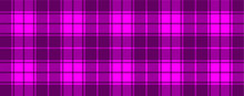 Purple, Pink Lumberjack Style. Vector Gingham And Bluffalo Check Line Pattern. Checkered Picnic Cooking Table Cloth. Texture From Rhombus, Squares For Plaid, Tablecloths. Flat Tartan Checker Print