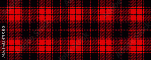 Obraz Red lumberjack style. Vector gingham and bluffalo check line pattern. Checkered picnic cooking table cloth. Texture from rhombus, squares for plaid, tablecloths. Flat tartan checker print   - fototapety do salonu