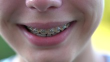 Close Up View 4k Video Of Smil...