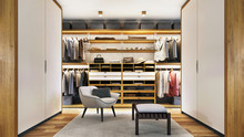 Modern Dressing Room With Led ...
