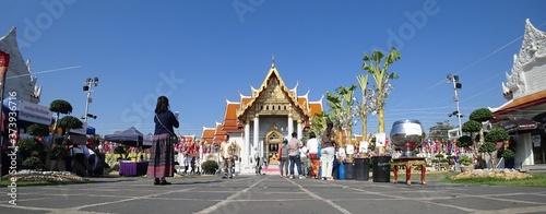 Fotomural The Marble Temple Bangkok, Wat Benchamaporphit, Bangkok Thailand