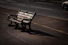 Sunlit Bench On Brighton Sea F...