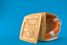 Cargo Crate With Life Buoy