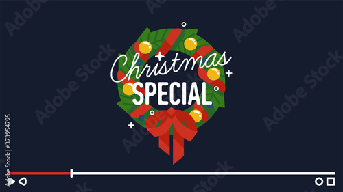 'Christmas Special' motion design element for video channel decoration Fototapet
