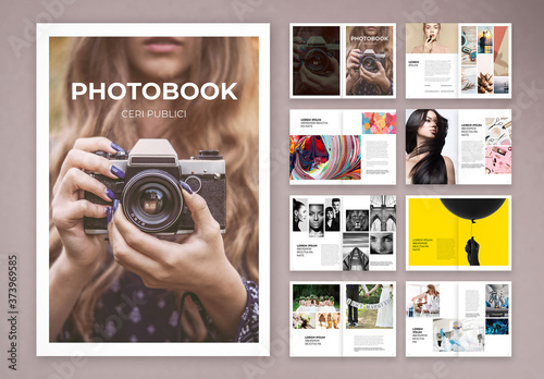 Fototapeta Simple Photobook and Portfolio Layout
