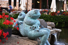 Frog Statue In The City