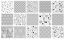 Memphis Geometric Patterns. Se...