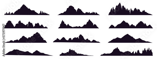Mountains silhouette Fototapeta