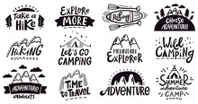 Adventure Quote Lettering. Out...