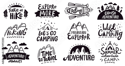 Adventure quote lettering Canvas Print
