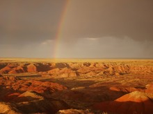 Rainbow Over Painted Desert