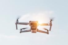 Drone With Digital Camera Flyi...