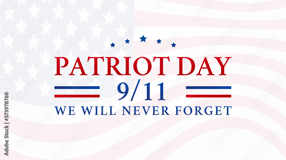 Fototapeta Patriot Day 9/11 Background Illustration