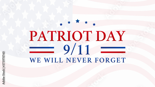 Patriot Day 9/11 Background Illustration - 373978760