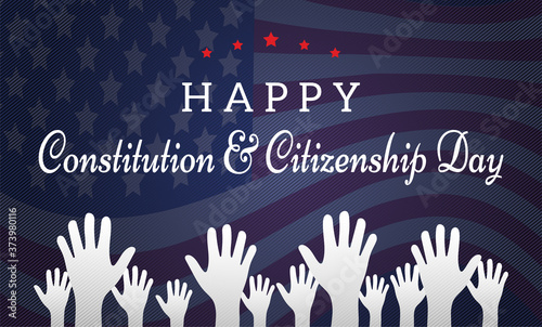 Stampa su Tela Happy Constitution and Citizenship Day Background Illustration
