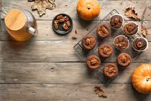 Autumn Pumpkin Muffins For Bre...