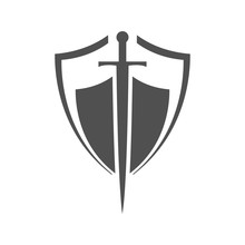 Shield And Sword Icon.