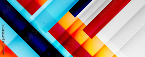 Tela Geometric abstract backgrounds with shadow lines, modern forms, rectangles, squares and fluid gradients