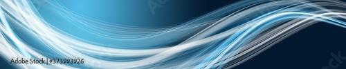 Obraz Abstract elegant wave panorama design illustration - fototapety do salonu