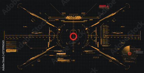 Photo Modern illustration for game background design Futuristic HUD, GUI interface screen design