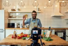 Young Man, Italian Cook In Apr...