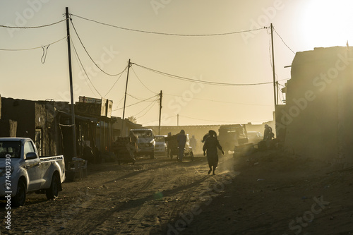 Street scene in Faya the largest city in northern Chad Wallpaper Mural