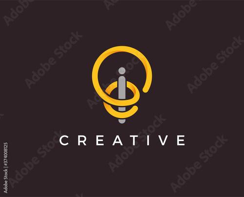 Photo minimal idea logo template - vector illustration