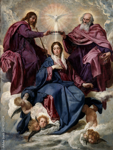 Foto Coronation of the Virgin Mary by Diego Velazquez