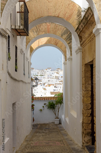 Fototapety, obrazy: Vejer de la Frontera. Typical white village of Spain in the province of Cadiz in Andalusia, Spain