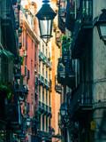 Fototapeta Na drzwi - Close of a lamp on streets of  Barcelona