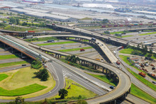 Aerial View Of Empty Highway I...