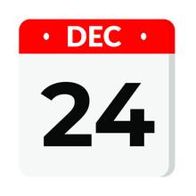 24 December Calendar Icon