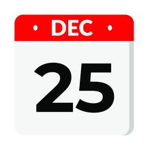 25 December Calendar Icon