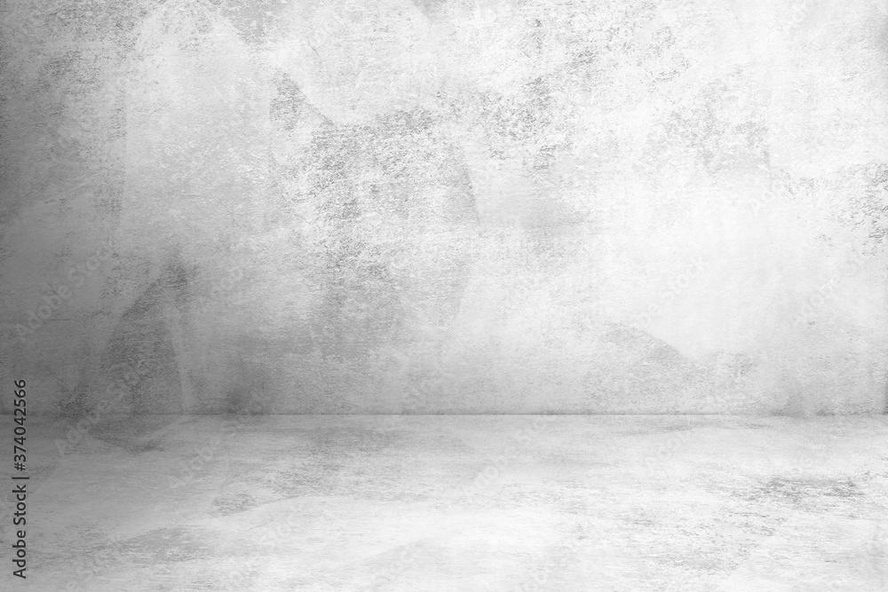 Fototapeta concrete wall and concrete floor