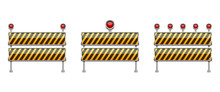 Stop Barrier Vector Design Ill...